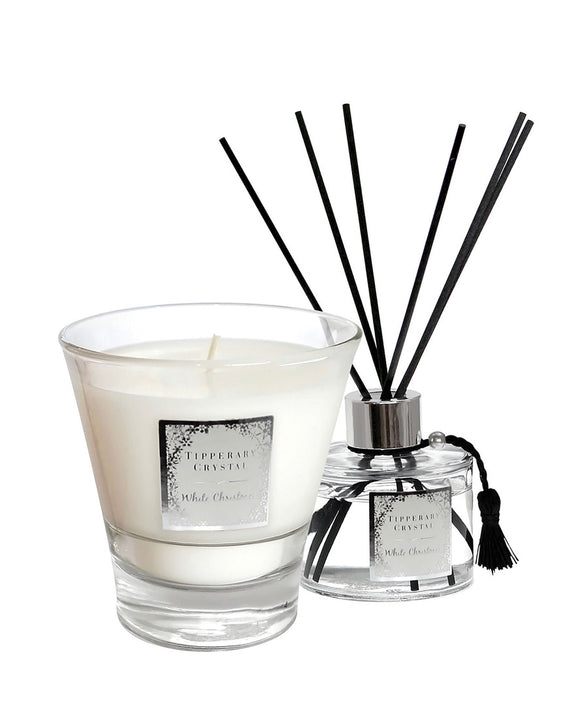 TIPPERARY CRYSTAL White Christmas Candle and Diffuser Set