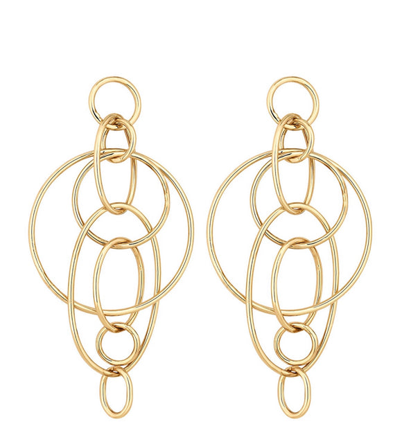 Lipsy Gold Plated Statement Earrings
