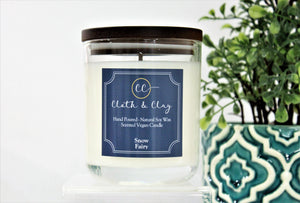 Cloth & Clay Candle - Snow Fairy
