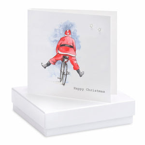 Father Christmas - Earrings Card