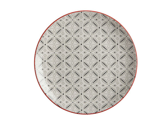 Maxwell Williams Boho Plate Batik Grey 20cm