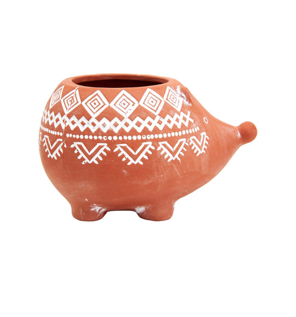 SASS AND BELLE TERRACOTTA HEDGEHOG PLANTER