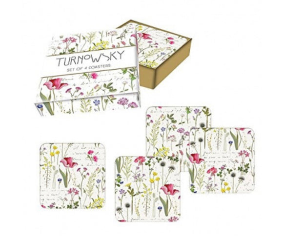 Turnowsky Gardenia Coasters (set of 4)