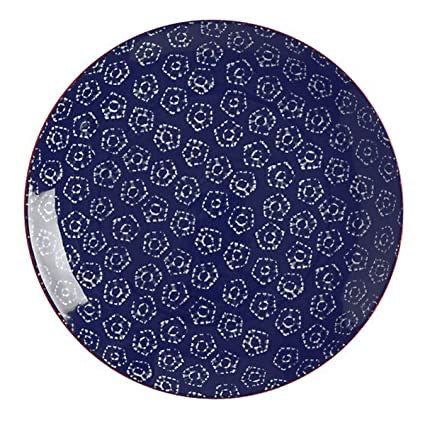 Maxwell Williams Boho Plate Shibori Navy 20cm