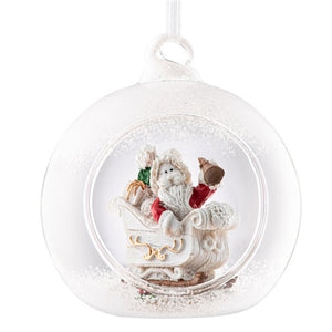 Galway Christmas Santa's Sleigh Hanging Ornament