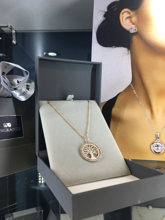 Newgrange - Rose Gold Tree of Life Pendant