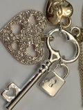 Lipsy Gold Heart & Charms Necklace