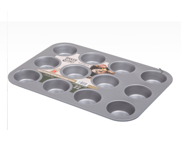 Baker & Salt® Non-Stick 12 Cup Muffin Tin