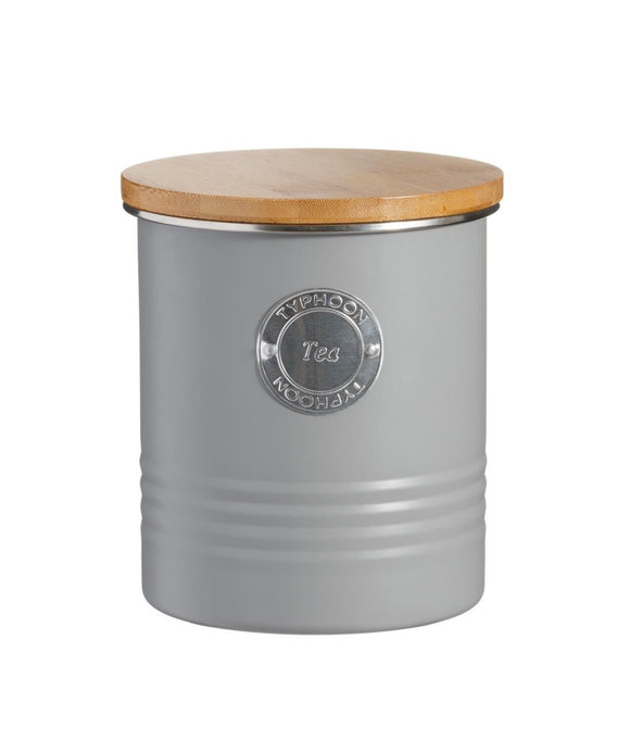 TYPHOON LIVING GREY TEA STORAGE CADDY