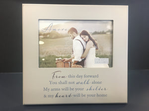"Amore Wedding Frame 6 x 4 "" From This Day"""
