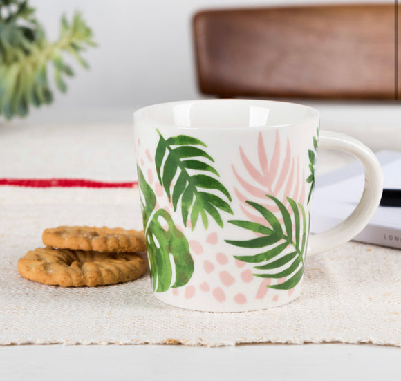 Tropical Palm Porcelain Mug