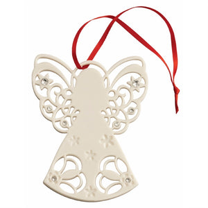 Belleek Angel with Gems Tree Ornament