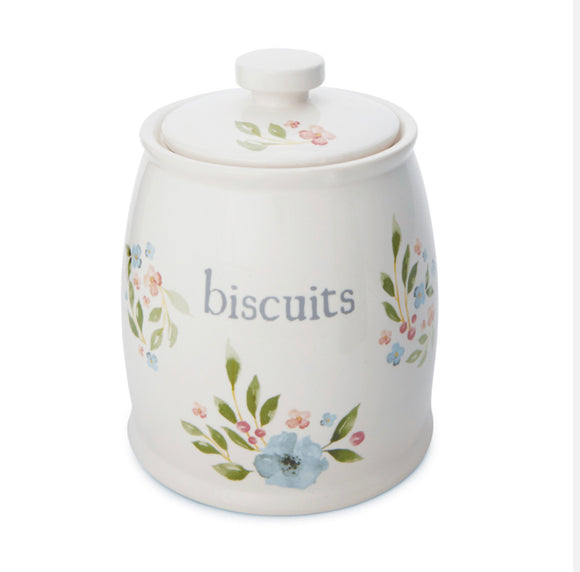 Country Floral Ceramic Biscuit Canister