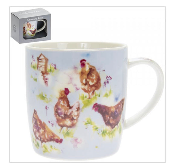 COUNTRY LIFE HEN MUG