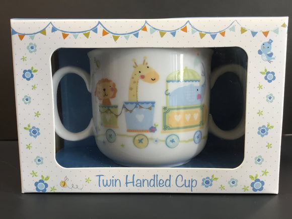 Twin Handled Cup Blue