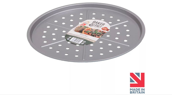 Baker & Salt® Pizza Oven Tray for Crispy Base 33cm