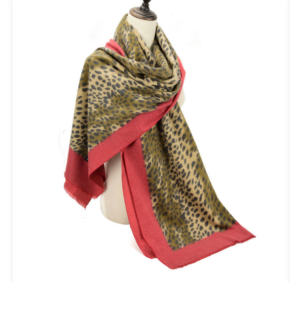 Animal Print (red) Scarf