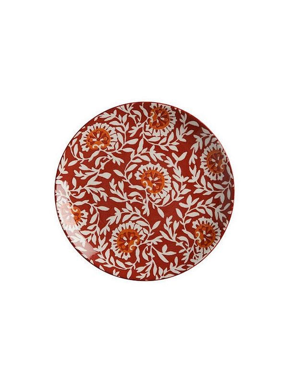 MW Boho Plate Damask Red 20cm