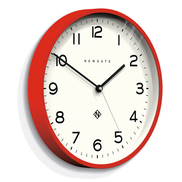 NUMBER THREE ECHO CLOCK RED