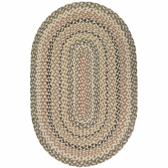 Braided Rug - Oval Granite 69x122