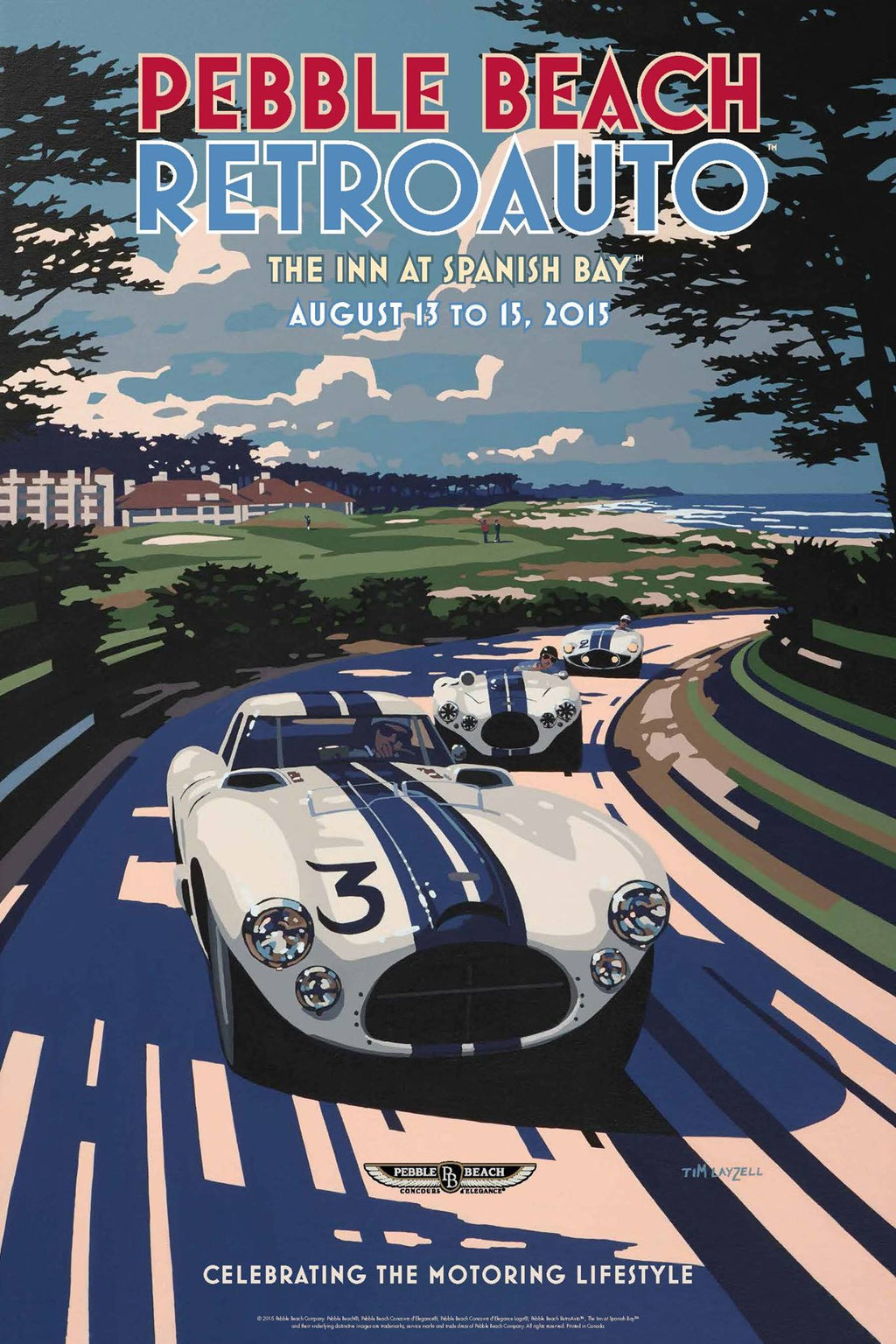 2015 Pebble Beach RetroAuto Poster