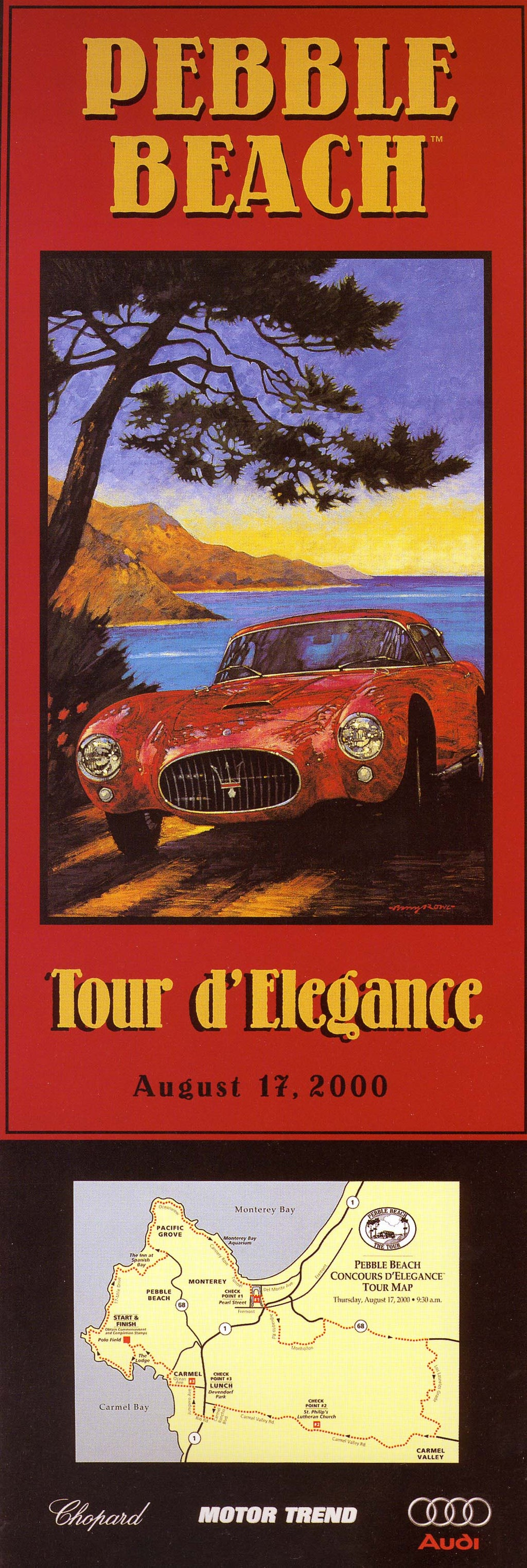 2000 Pebble Beach Tour d'Elegance Poster
