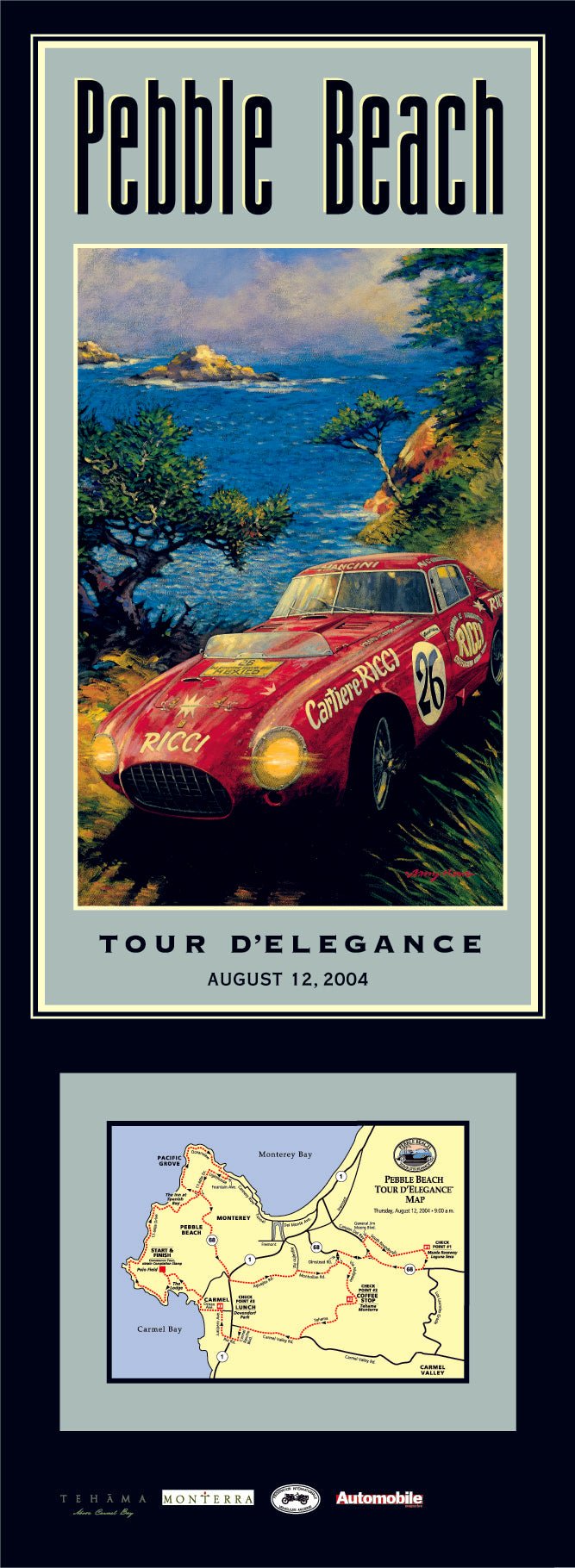 2004 Pebble Beach Tour d'Elegance Poster