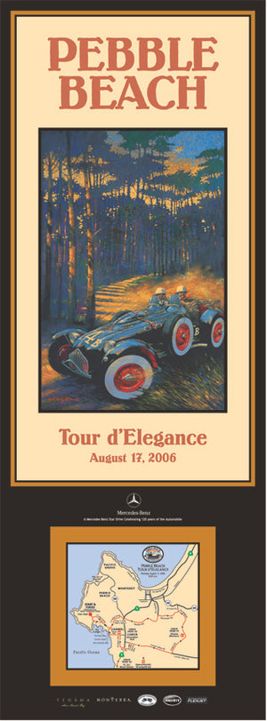 2006 Pebble Beach Tour d'Elegance Poster