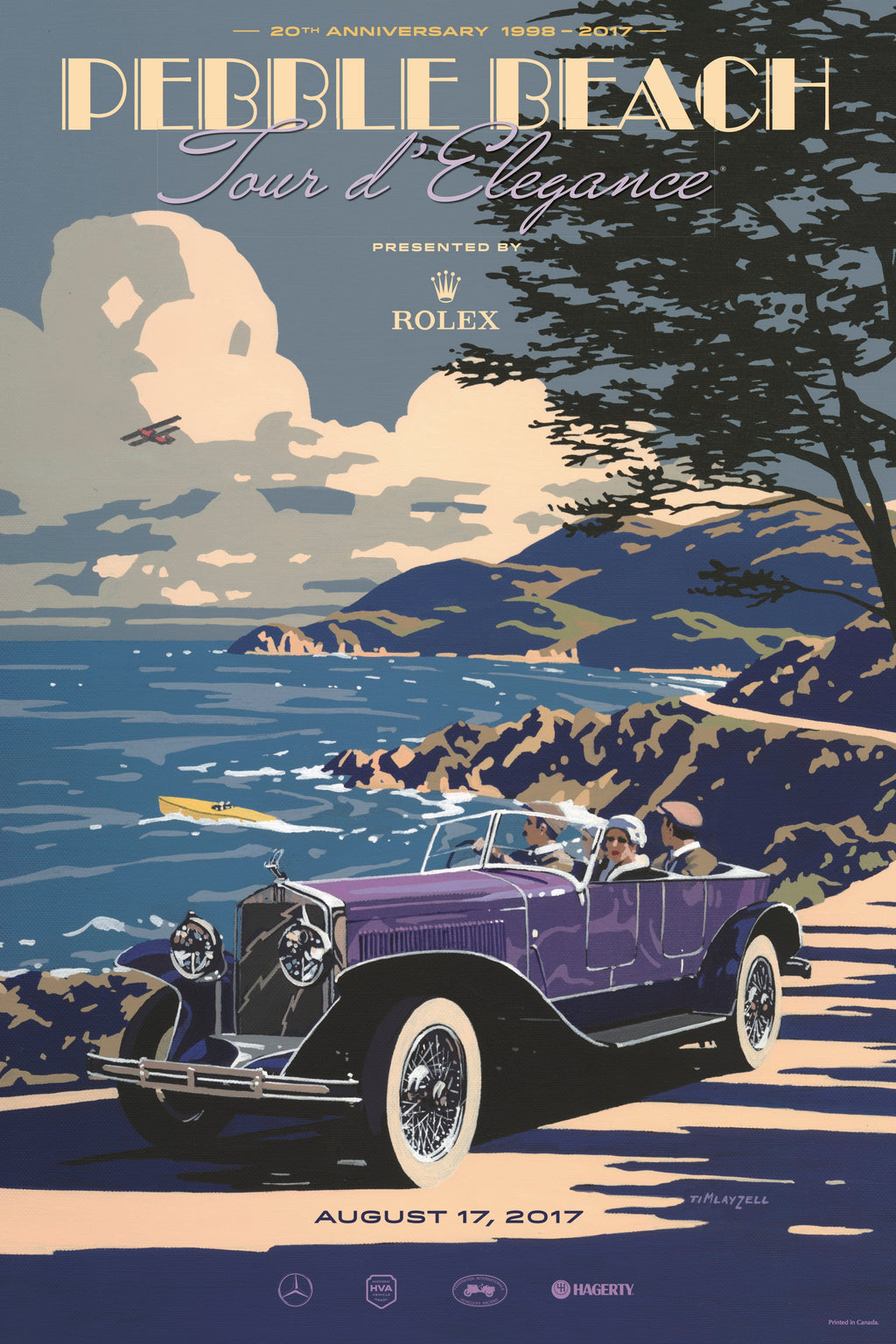 2017 Pebble Beach Tour d'Elegance Poster