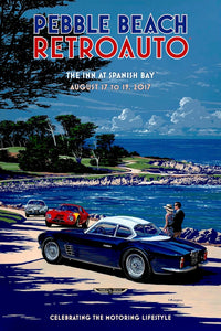 2017 Pebble Beach RetroAuto Poster
