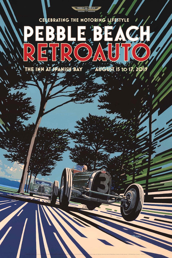2019 Pebble Beach RetroAuto Poster