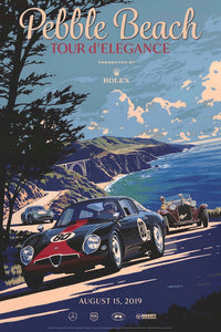 2019 Pebble Beach Tour d'Elegance Poster