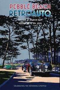 2016 Pebble Beach RetroAuto Poster