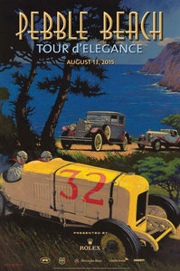 2015 Pebble Beach Tour d'Elegance Poster