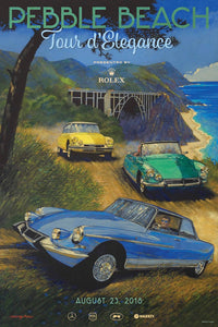 2018 Pebble Beach Tour d'Elegance Poster