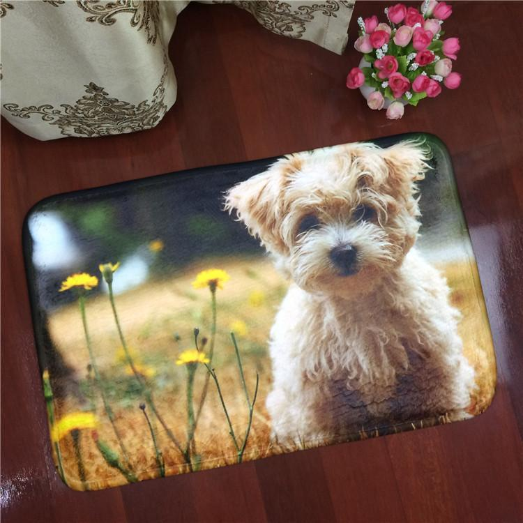 1PCS Pet Cat Dog Mat Cartoon Flannel Carpet Antiskid Mat