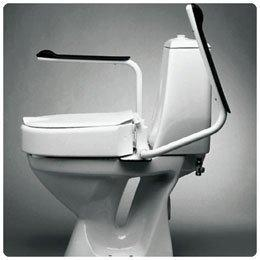 "Etac Hi Loo Raised Toilet Seat with Armrests, 4""H (10cm) Seat - Model 554934"