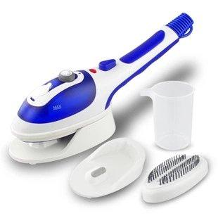 [Upgraded Version]JCMC Professional Handheld Garment Steamers, Steam Iron, Portable Iron, Iron with steamer, Fast Heat-up Powerful Iron Steamer with Ceramic Soleplate for Home and Travel (Blue)
