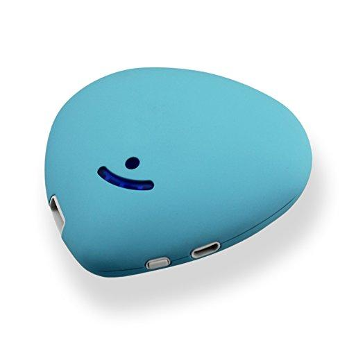 Rechargeable Hand Warmer Portable USB Electrical Heater Power Bank 4600mAh External Battery for iPhone, Samsung and Any Other USB Port Device (blue)
