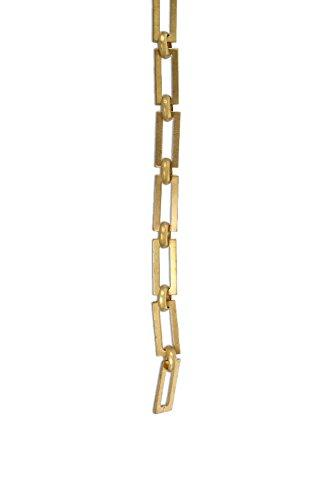 RCH Hardware CH-01-AD Decorative Acid Dipped Solid Brass Chain for Hanging, Lighting - Rectangular Square Edge and Unwelded Links (1 Foot)
