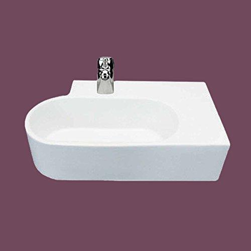 Bathroom Sink Vessel White Wall Mount Edwin Compact Easy Clean