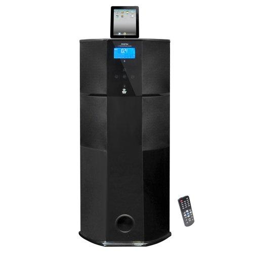 Pyle Home PHST94IPGL 600 Watt 2.1 Channel Home Theater Tower with Docking Station for iPod/iPhone/iPad (Black Glossy Color)