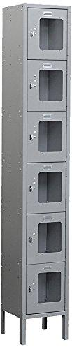 Salsbury Industries S-66165GY-U Six Tier Box Style 12-Inch Wide 6-Feet High 15-Inch Deep Unassembled See Through Metal Locker, Gray