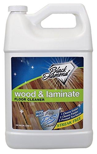 Black Diamond Stoneworks Wood & Laminate Floor Cleaner 1-Gallon: For Hardwood, Real, Natural & Engineered Flooring –Biodegradable Safe for Cleaning All Floors