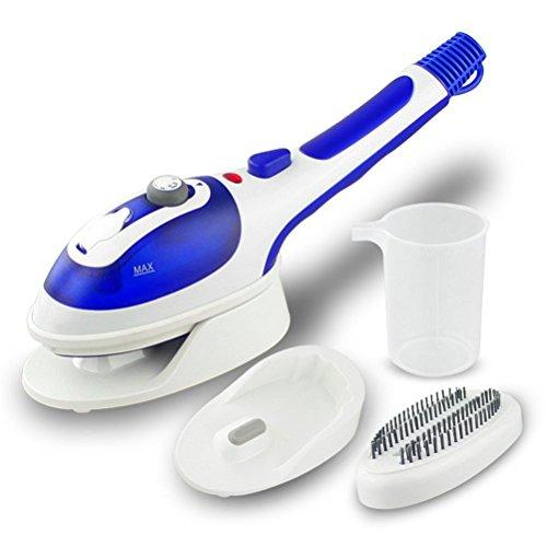 OWIKAR Handheld Garment Steamers, Portable Fabric Steam Iron Clothes Steamer Fast Heat-up Powerful Iron Steamer with Ceramic Soleplate for Home and Travel (Blue)
