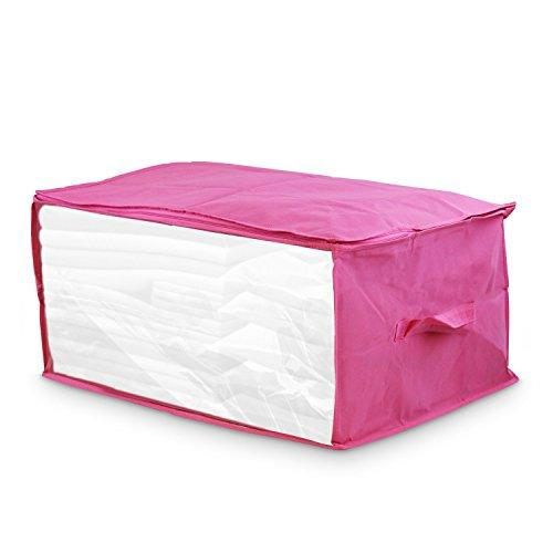 "Kubez Canvas Under Bed Storage Bag with Zipper for Blankets, Quilts & Comforters(23.5""x17.75"" x11.75"")"