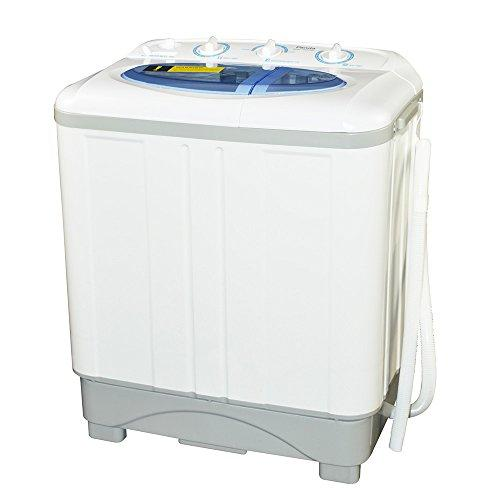 Panda Small Compact Portable Washing Machine (12 lbs Capacity) with Spin Dryer -Larger Size, Built in Pump