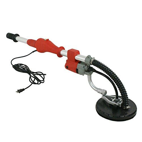 ZENY 600W Electric Drywall Vacuum Sander Variable 5 Speed Telescopic Handle w/6 Sander Discs & 14FT Hose