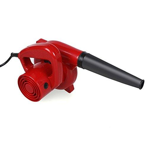 600W Mini Handheld Electric Blower Dust Leaf Blower Vacuum for Shop Garage Garden Computer Car House (red) (600W)