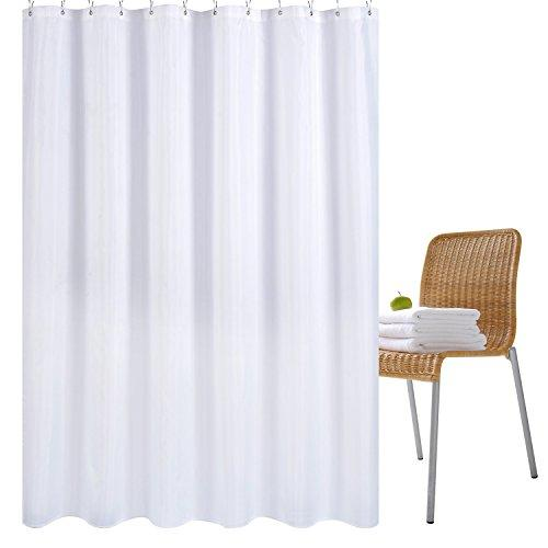 Wimaha Water Repellent Fabric Shower Curtain Liner Mildew Resistant Machine Washable Bathroom Curtains